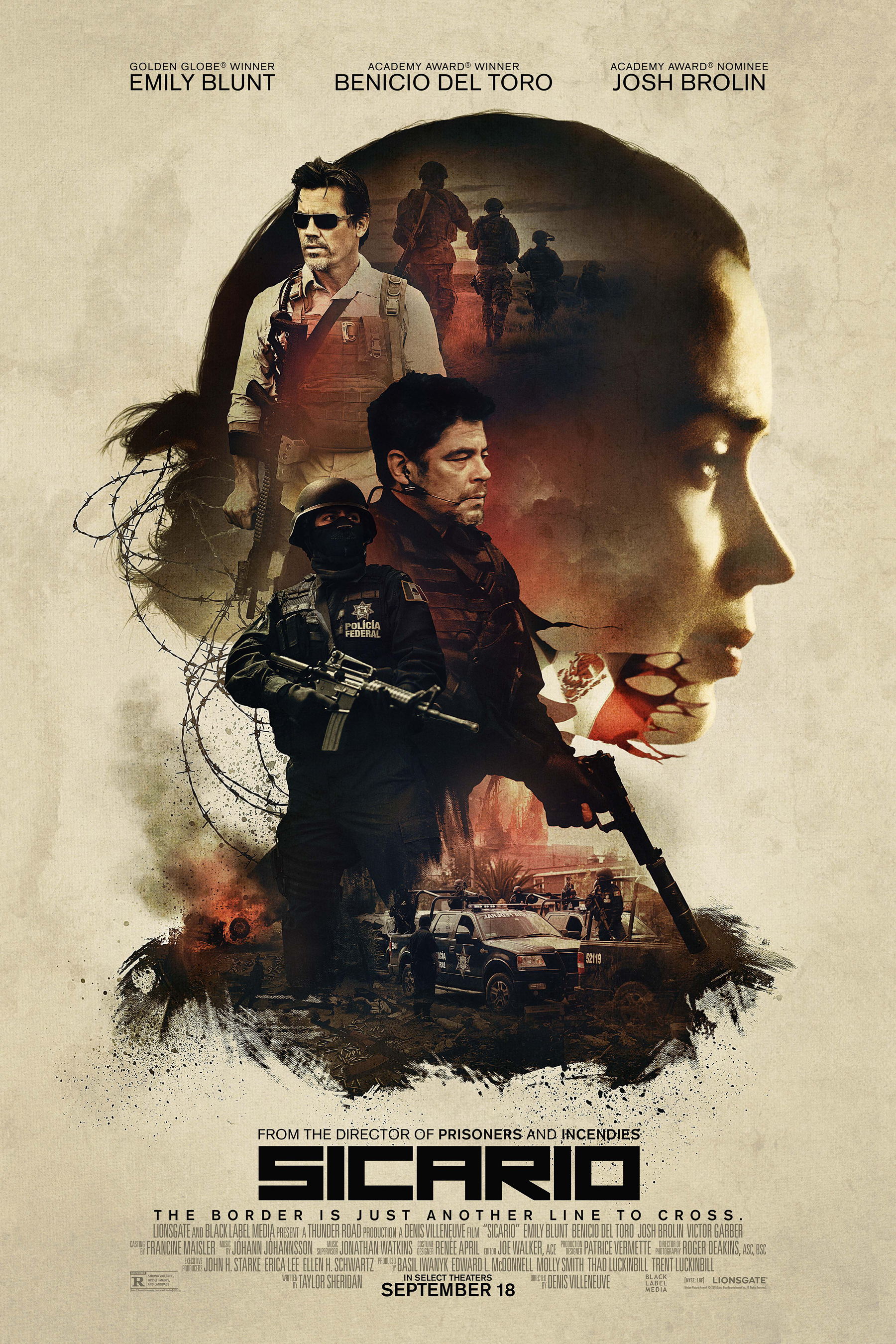 sicario new poster Top 25 Films of 2015