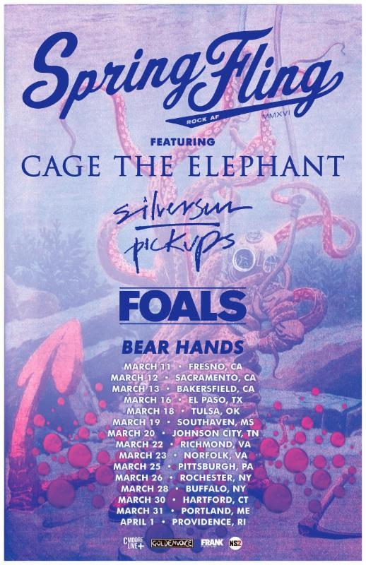 cage elephant 2016 tour foals silversun tour Cage the Elephant, Foals, and Silversun Pickups announce US tour
