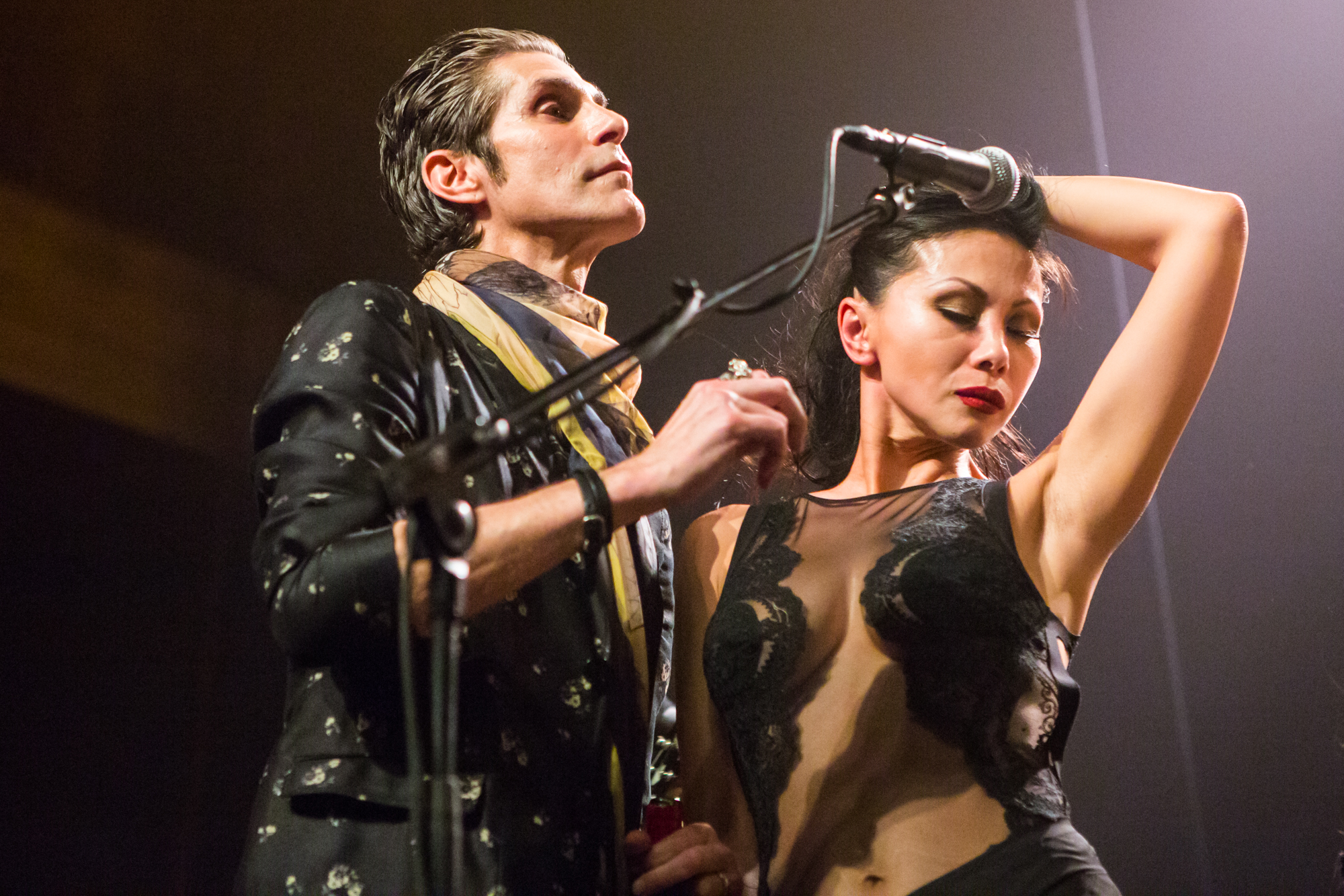 Perry and Etty Farrell // Photo by Philip Cosores