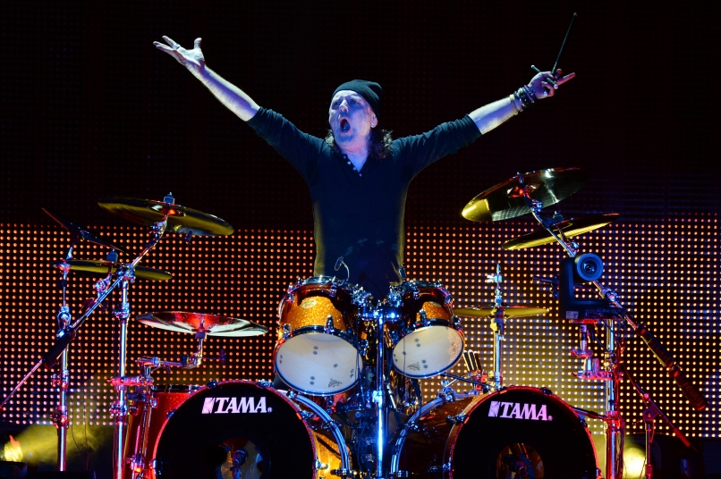 SAN FRANCISCO, CA - FEBRUARY 06: Musician Lars Ulrich of Metallica performs onstage at CBS RADIO's third annual 'The Night Before' at AT&T Park on February 6, 2016 in San Francisco, California. (Photo by Kevin Mazur/Getty Images for CBS)