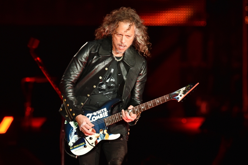 SAN FRANCISCO, CA - FEBRUARY 06: Musician Kirk Hammett of Metallica performs onstage at CBS RADIO's third annual 'The Night Before' at AT&T Park on February 6, 2016 in San Francisco, California. (Photo by Kevin Winter/Getty Images for CBS)