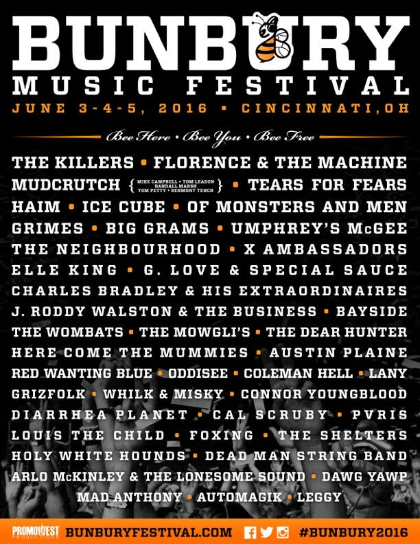 Win Tickets to Bunbury Music Festival 2016