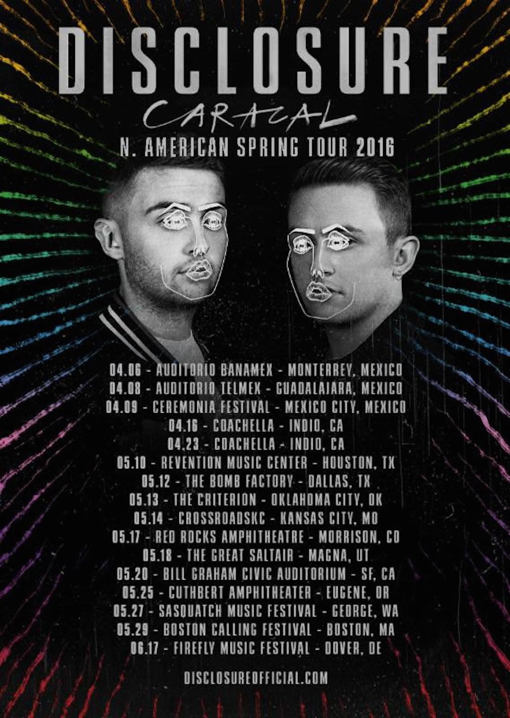 disclosure 2016 tour Disclosure announce 2016 North American tour