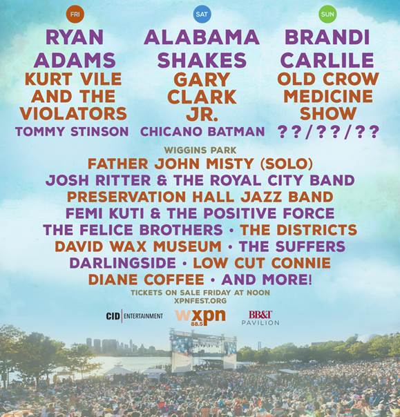 image003 XPoNential Festival reveals 2016 lineup: Ryan Adams, Alabama Shakes, Father John Misty, more