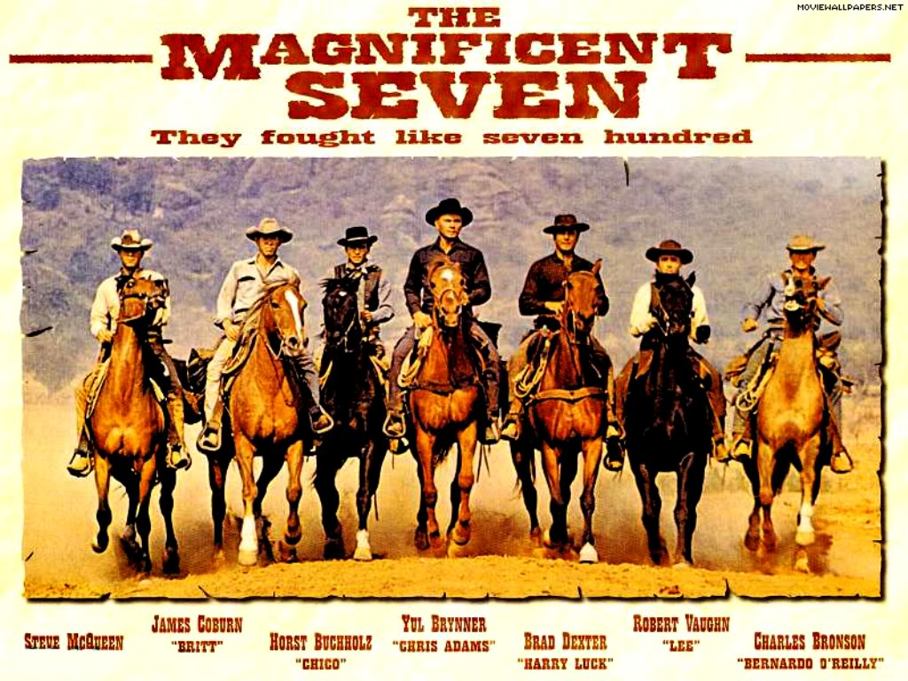 magnificent seven poster The 27 Best Film Ensembles: From Boogie Nights to Spring Breakers