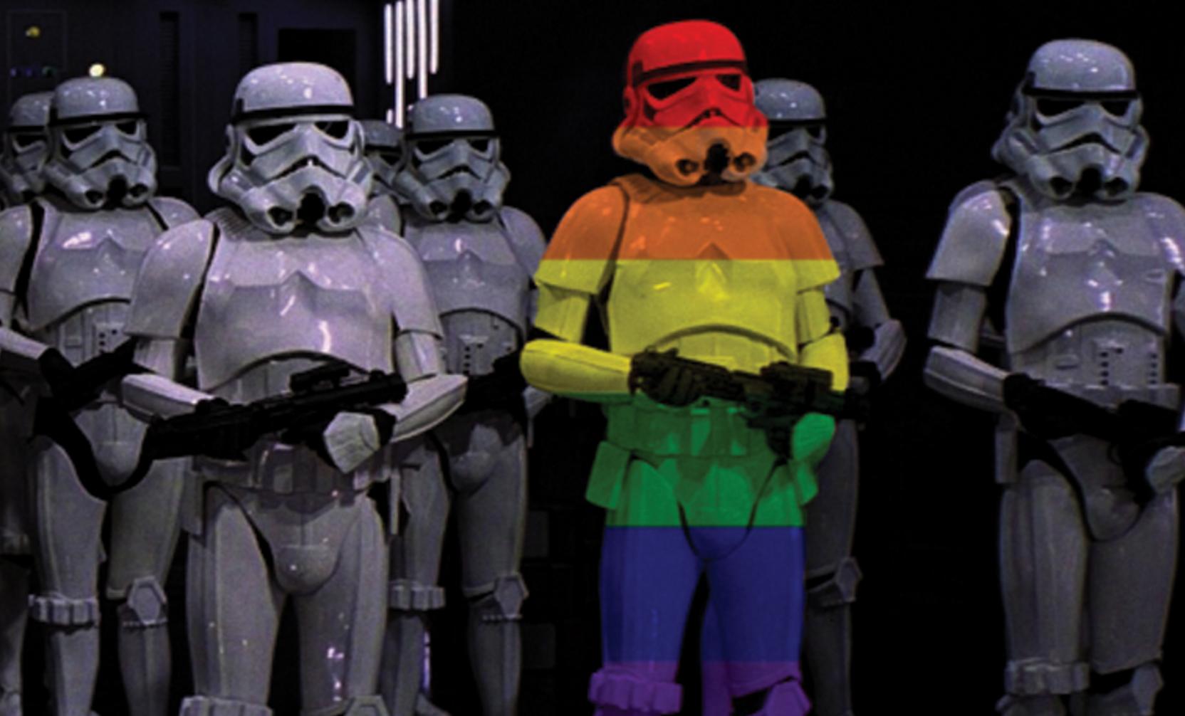 Queer wars gay pride shirt star wars parody lgbt shirt