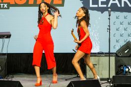 Chloe and Halle // Photo by Philip Cosores