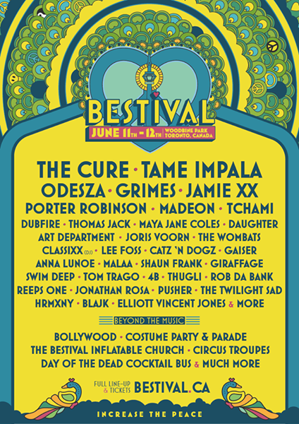 12814166 1052918794781599 5923881489281140128 n The Cure, Tame Impala to headline Bestival Toronto 2016