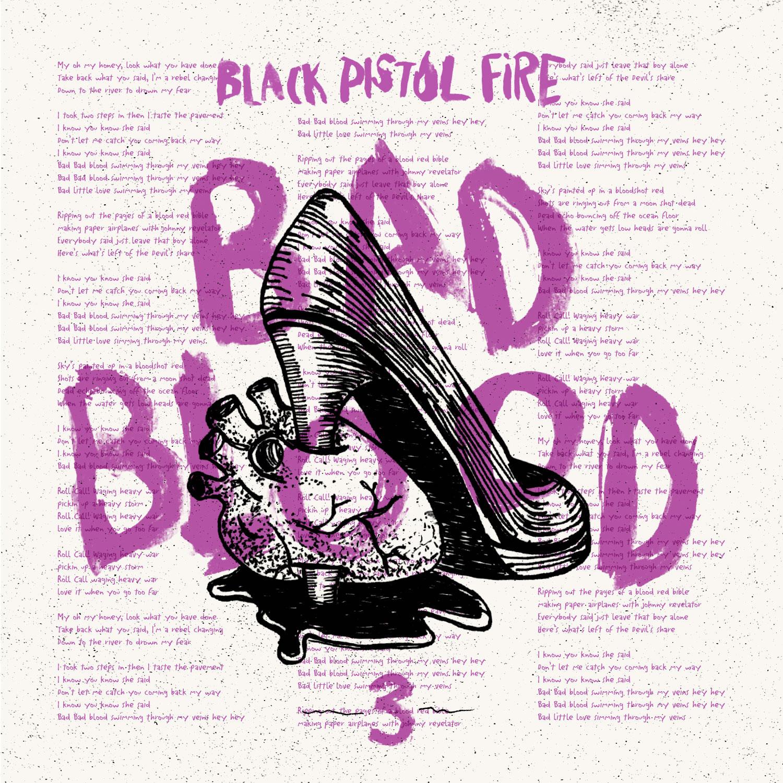 bad blood artwork black pistol fire Black Pistol Fire announce new album, Dont Wake the Riot, premiere Bad Blood    listen