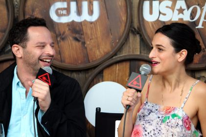 Nick Kroll and Jenny Slate // Photo by Heather Kaplan