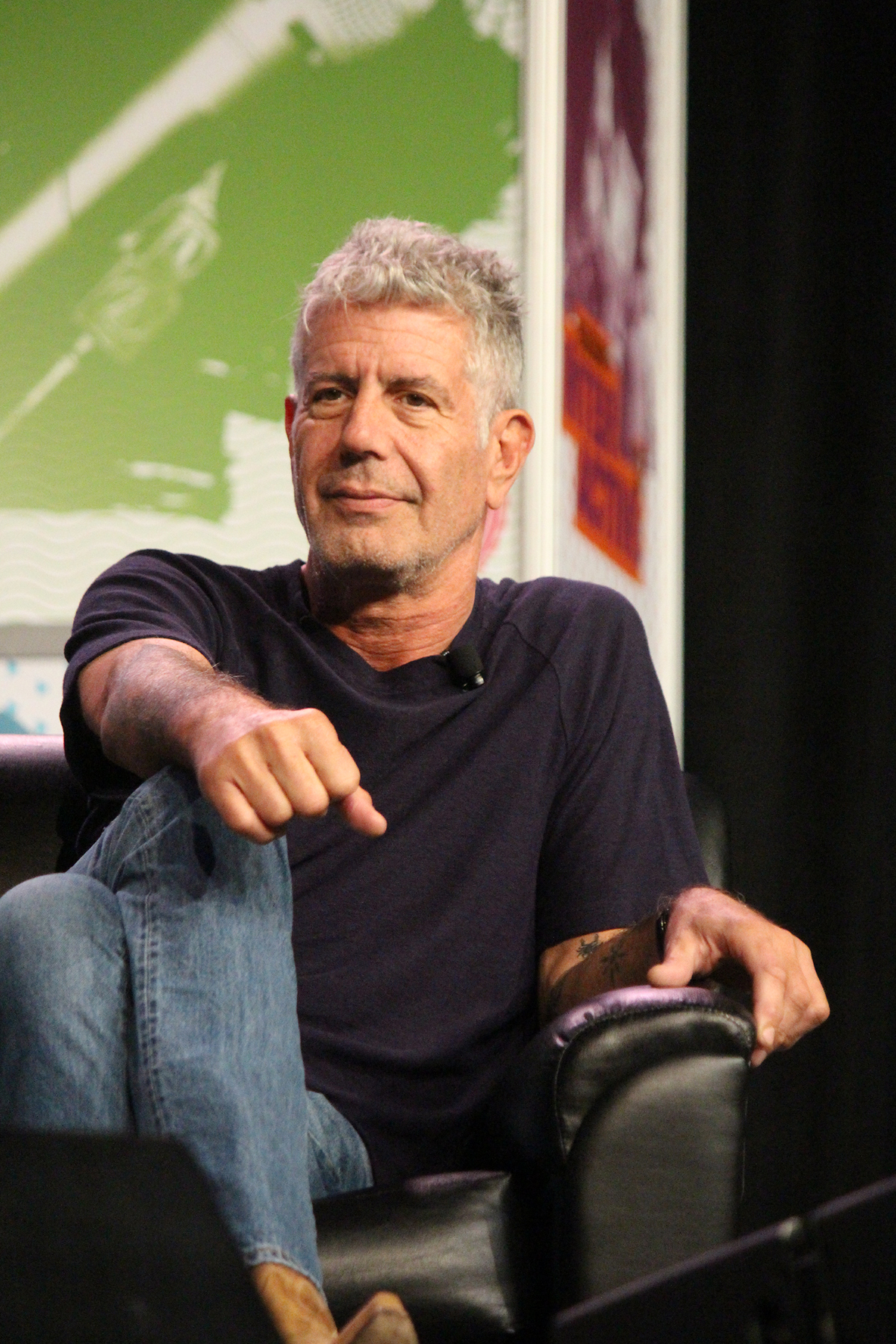 Anthony Bourdain // Photo by Heather Kaplan