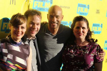 Gillian Jacobs, Mike Birbiglia, Keegan-Michael Key, and Tami Sagher // Photo by Heather Kaplan