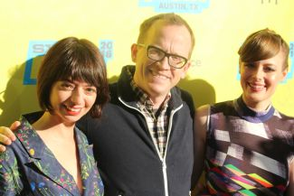 Kate Micucci, Chris Gethard, and Gillian Jacobs // Photo by Heather Kaplan