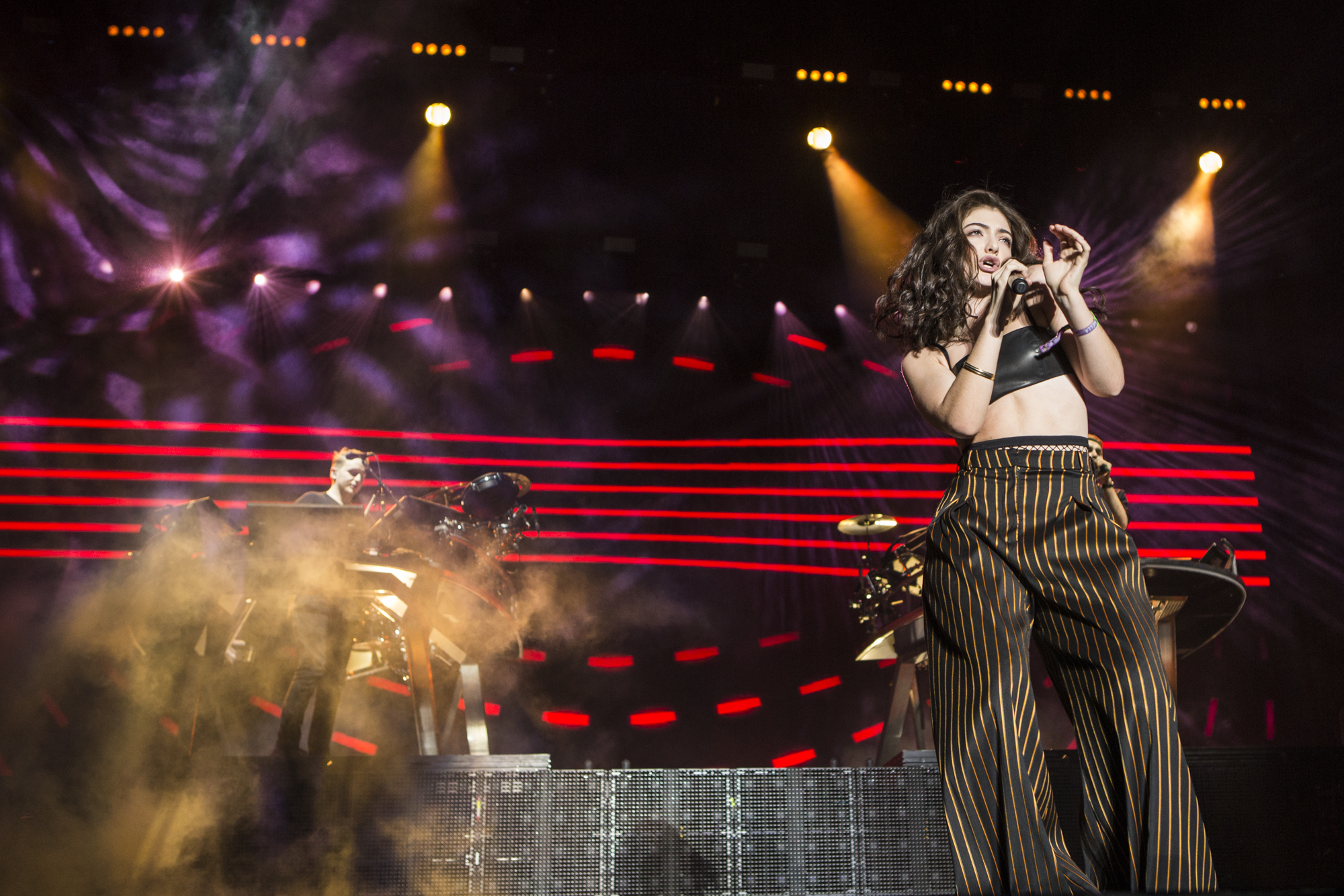 Disclosure with Lorde // Photo by Philip Cosores