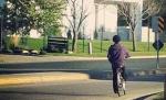 Prince riding bike