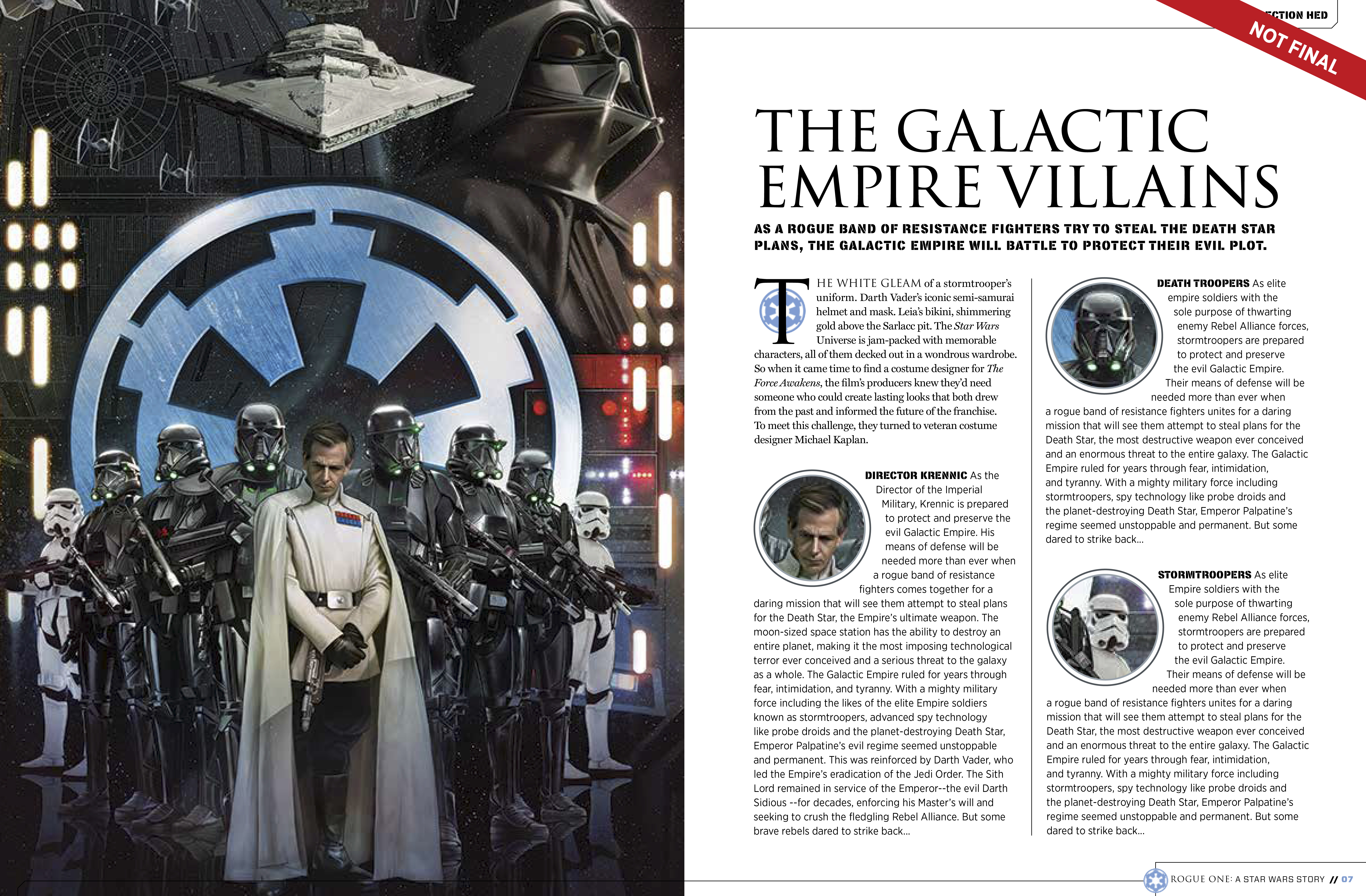 9781942556411 il 3 9e67c Star Wars: Rogue One character details, new ships revealed in leaked visual guide