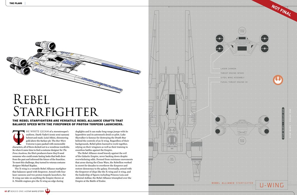 9781942556411 il 7 e8477 Star Wars: Rogue One character details, new ships revealed in leaked visual guide