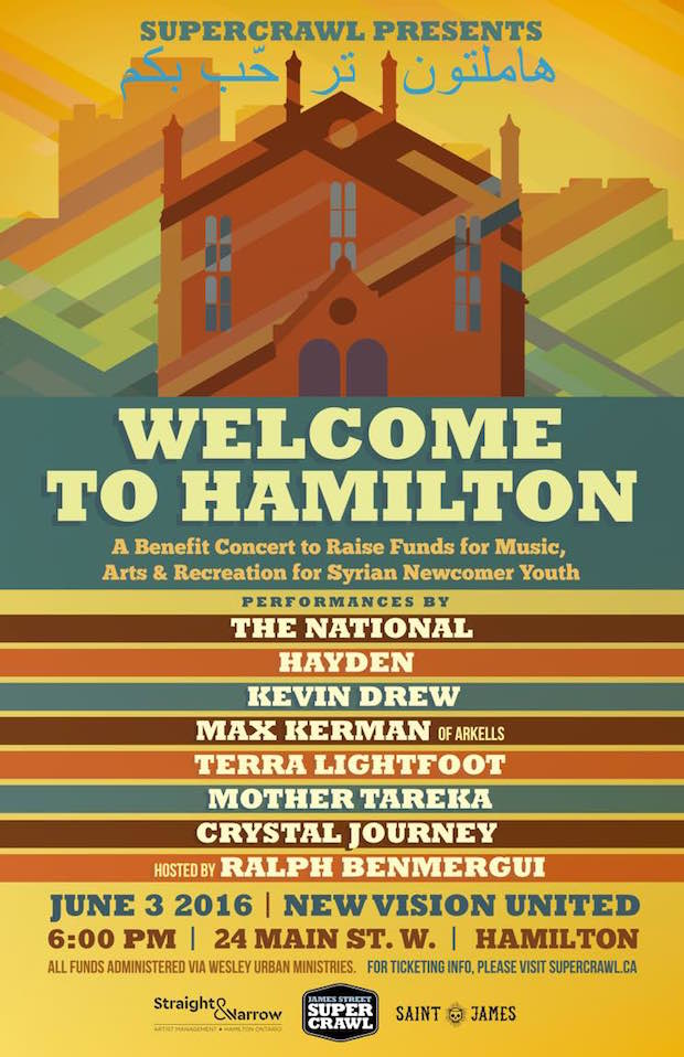hamilton 2 The National to headline benefit concert for Syrian refugees