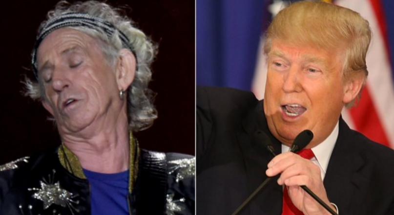 Trump Keith Richards