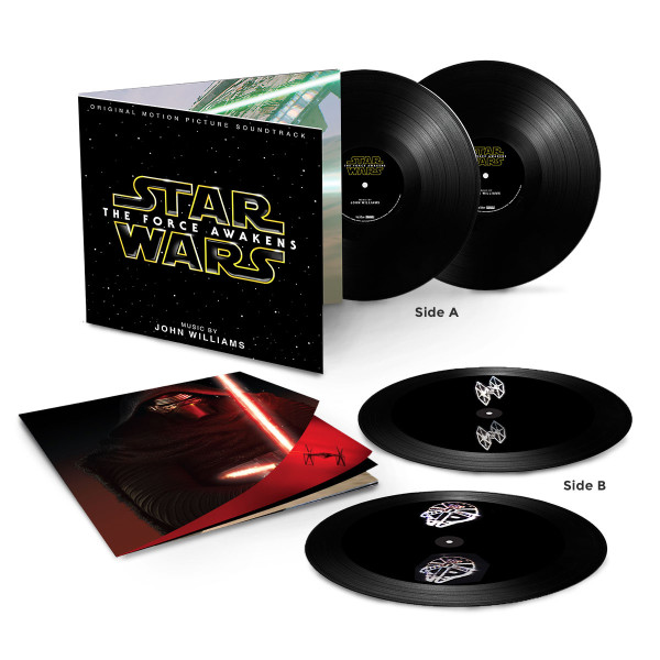 starwarsvinyl Star Wars: The Force Awakens soundtrack vinyl etched with ridiculous 3D spacecraft holograms