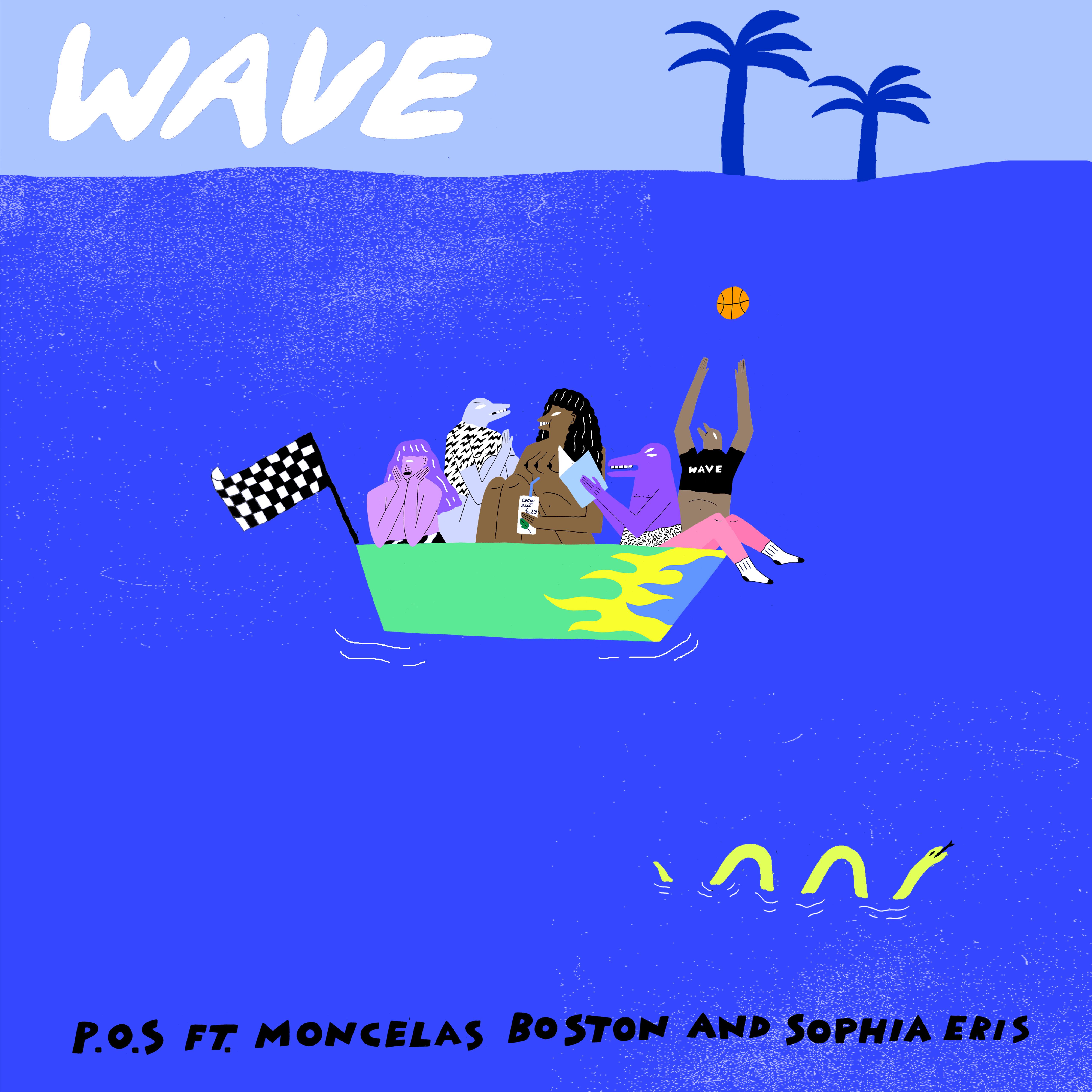 wave single cover3flat P.O.S. flexes his flow on new single Wave featuring Moncelas Boston and Sophia Eris    listen