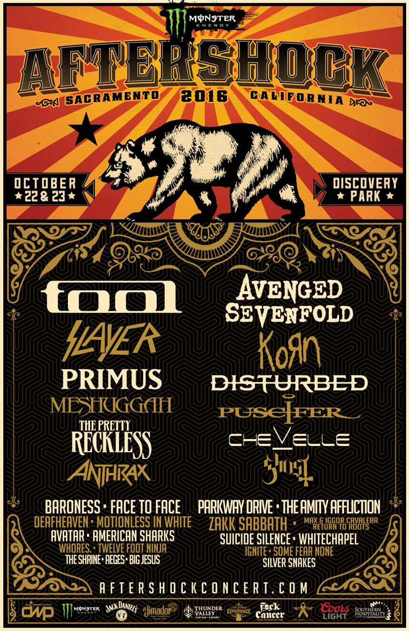 aftershock1 Aftershock reveals 2016 lineup: Tool, Primus, Slayer, and more