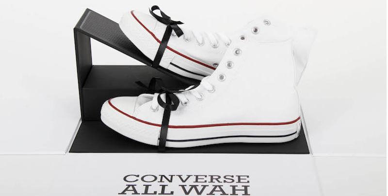 Converse made a sneaker with a Wah guitar pedal built right