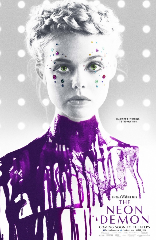 the neon demon poster Beauty Is Currency: An Interview with Elle Fanning, Nicolas Winding Refn, and Cliff Martinez