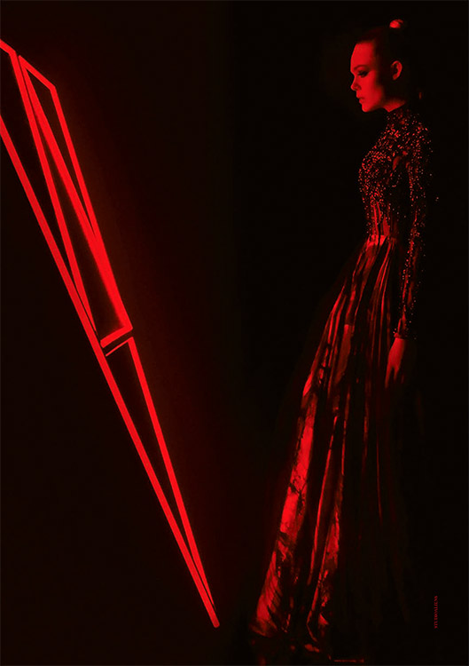 the neon demon vertical Beauty Is Currency: An Interview with Elle Fanning, Nicolas Winding Refn, and Cliff Martinez