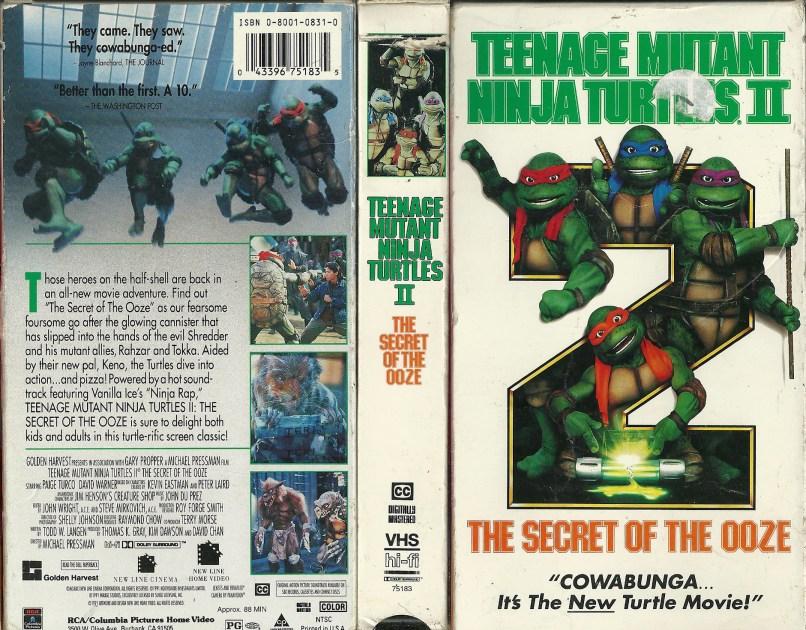 tmnt 2 vhs The Unkind Rewind of Teenage Mutant Ninja Turtles II: The Secret of the Ooze