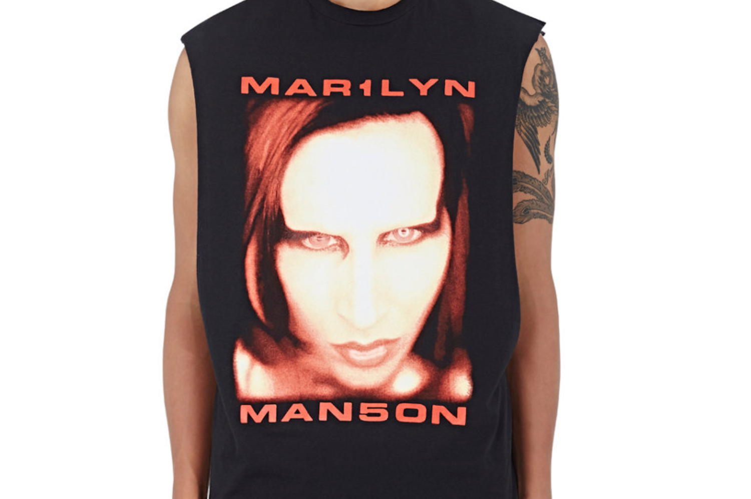 0eb5d519b Justin Bieber passes off Marilyn Manson t-shirt as his own merchandise -  Consequence of Sound | Consequence of Sound