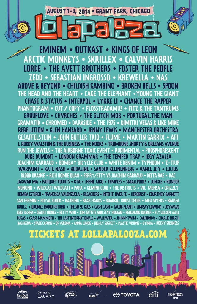 Ranking: Every Lollapalooza Lineup from Worst to Best