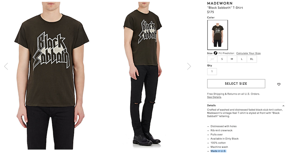 9b4fd37d black sabbath full barneys Barneys is selling obscenely expensive band t  shirts