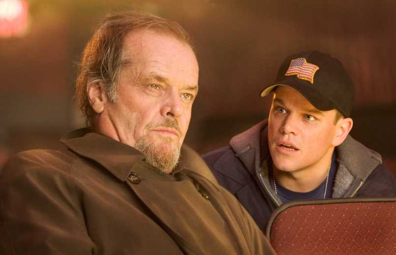 """Colin Sullivan (MATT DAMON) warns Costello (JACK NICHOLSON) that he is taking too many chances in Warner Bros. Pictures' crime drama """"The Departed."""" PHOTOGRAPHS TO BE USED SOLELY FOR ADVERTISING, PROMOTION, PUBLICITY OR REVIEWS OF THIS SPECIFIC MOTION PICTURE AND TO REMAIN THE PROPERTY OF THE STUDIO. NOT FOR SALE OR REDISTRIBUTION."""