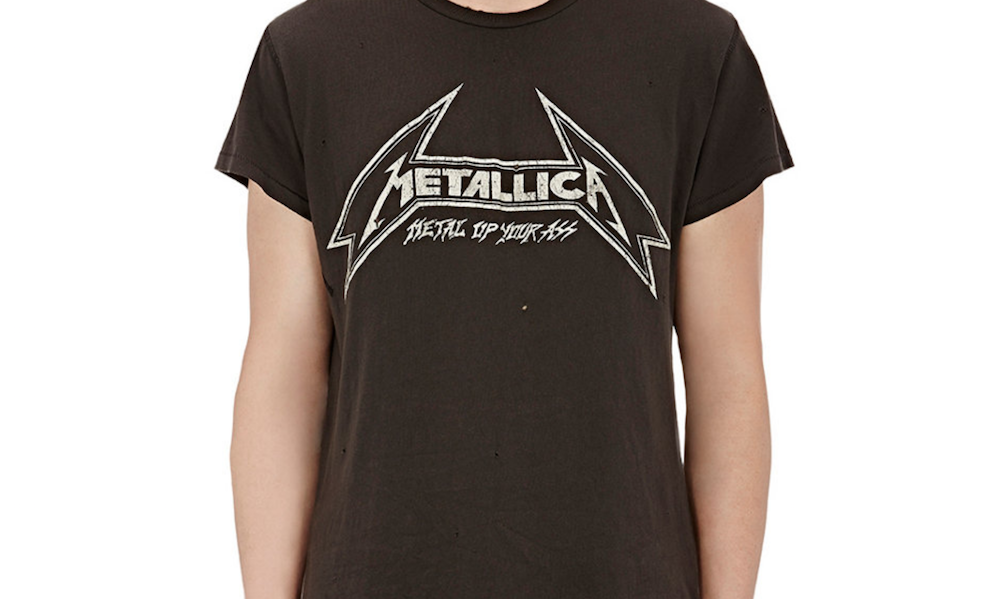 metallica shirt Barneys is selling obscenely expensive band t shirts