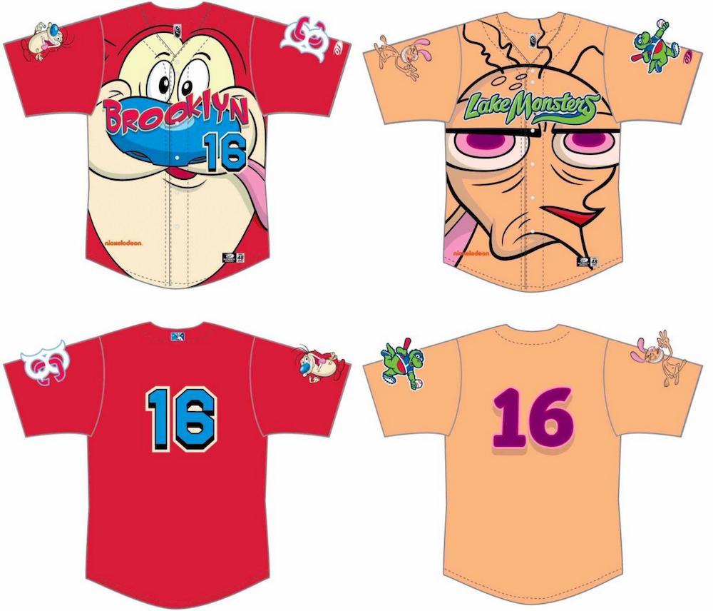 ren stimpy jersey brooklyn cyclones baseball Minor league baseball teams celebrate Nickelodeon with kick ass Ren & Stimpy jerseys