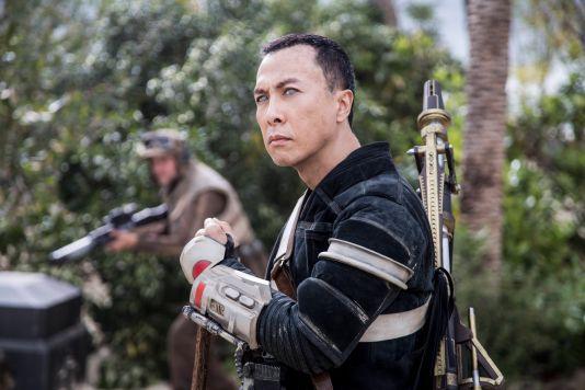 Donnie Yen portrays blind warrior-monk Chirrut Imwe