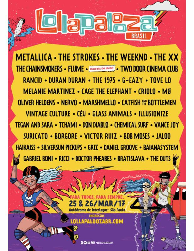lollapalooza brazil Lollapalooza reveals 2017 lineups for Brazil, Argentina, and Chile festivals