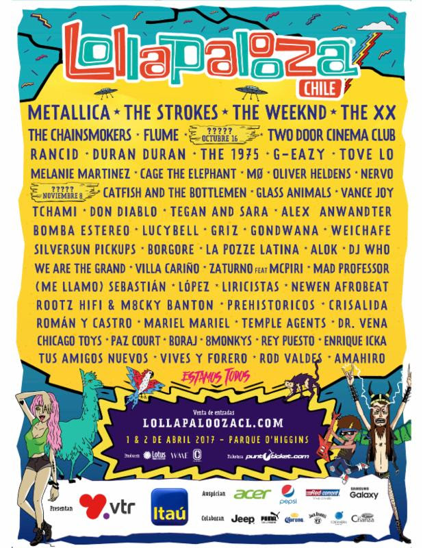 lollapalooza chile Lollapalooza reveals 2017 lineups for Brazil, Argentina, and Chile festivals