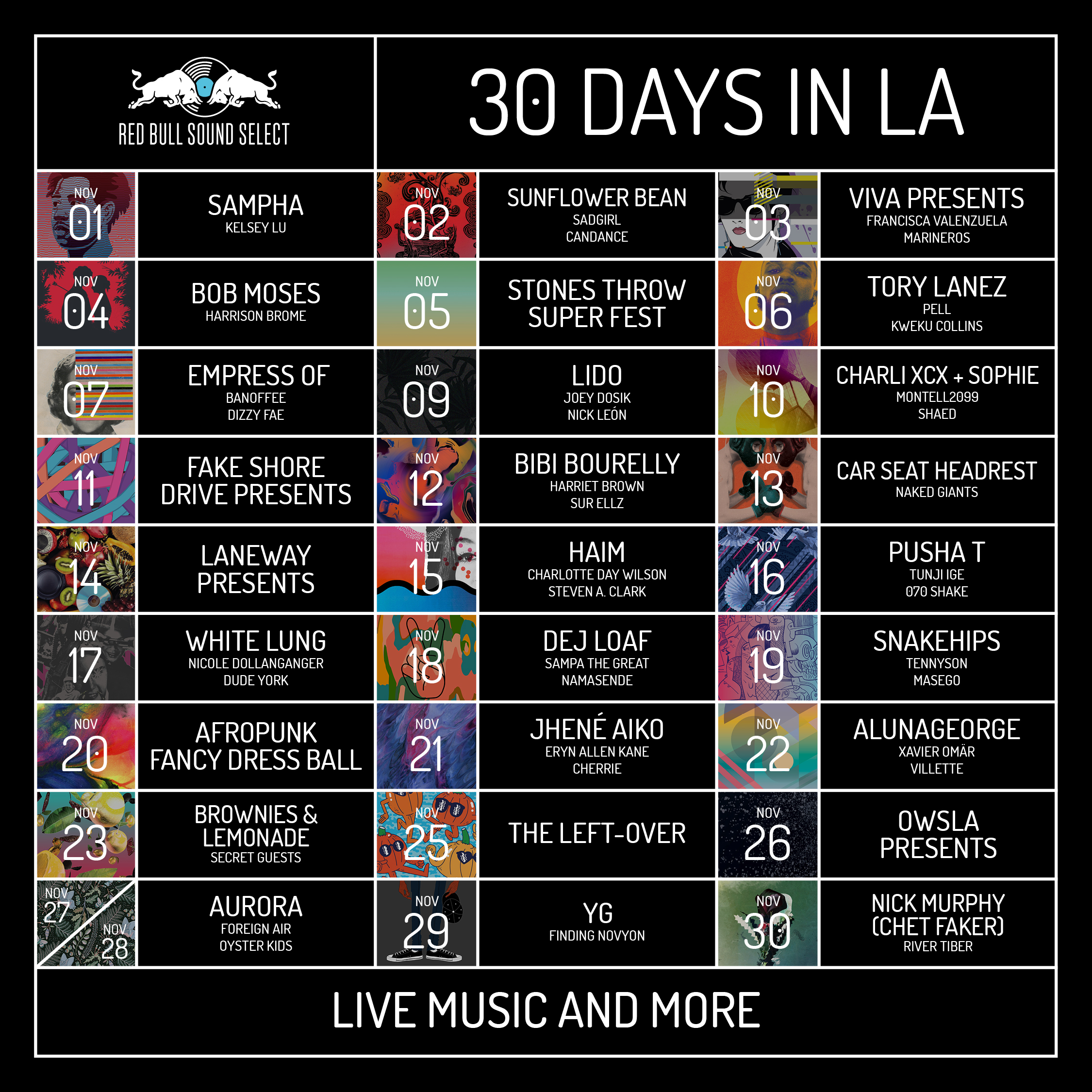 p 20160913 00047 hires jpeg 24bit rgb news Red Bull Sound Select announces 30 Days in LA lineup: HAIM, Pusha T, Charli XCX + Sophie