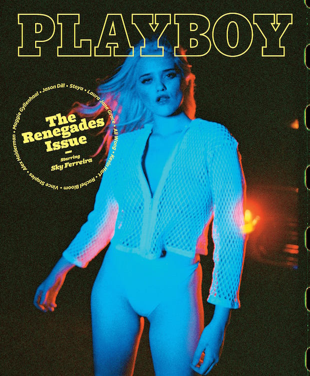 sky playboy 2 Sky Ferreira will be Octobers Playboy cover girl