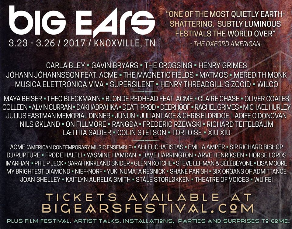 big ears festival 2017 Big Ears Festival reveals eclectic 2017 lineup