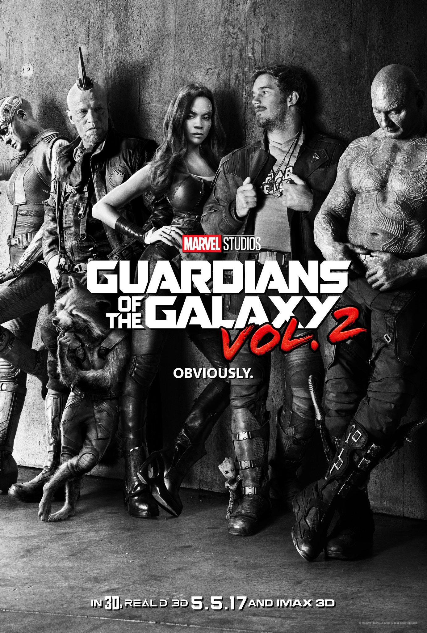 cvhotujvmaaelf1 James Gunn reveals first poster for Guardians of the Galaxy Vol. 2