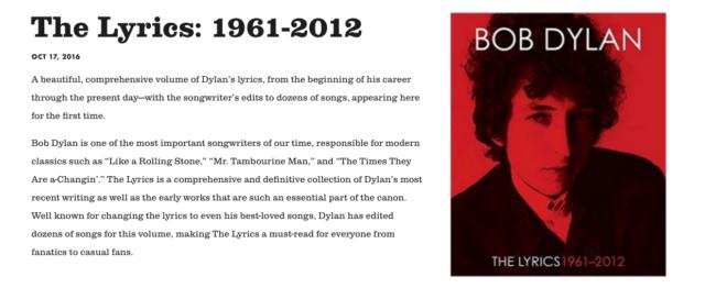 dylan1 Bob Dylans website removes acknowledgement of Nobel Prize for Literature