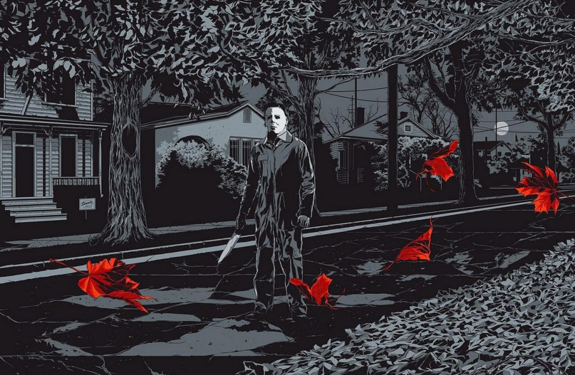 Halloween, artwork by Ken Taylor via MONDO