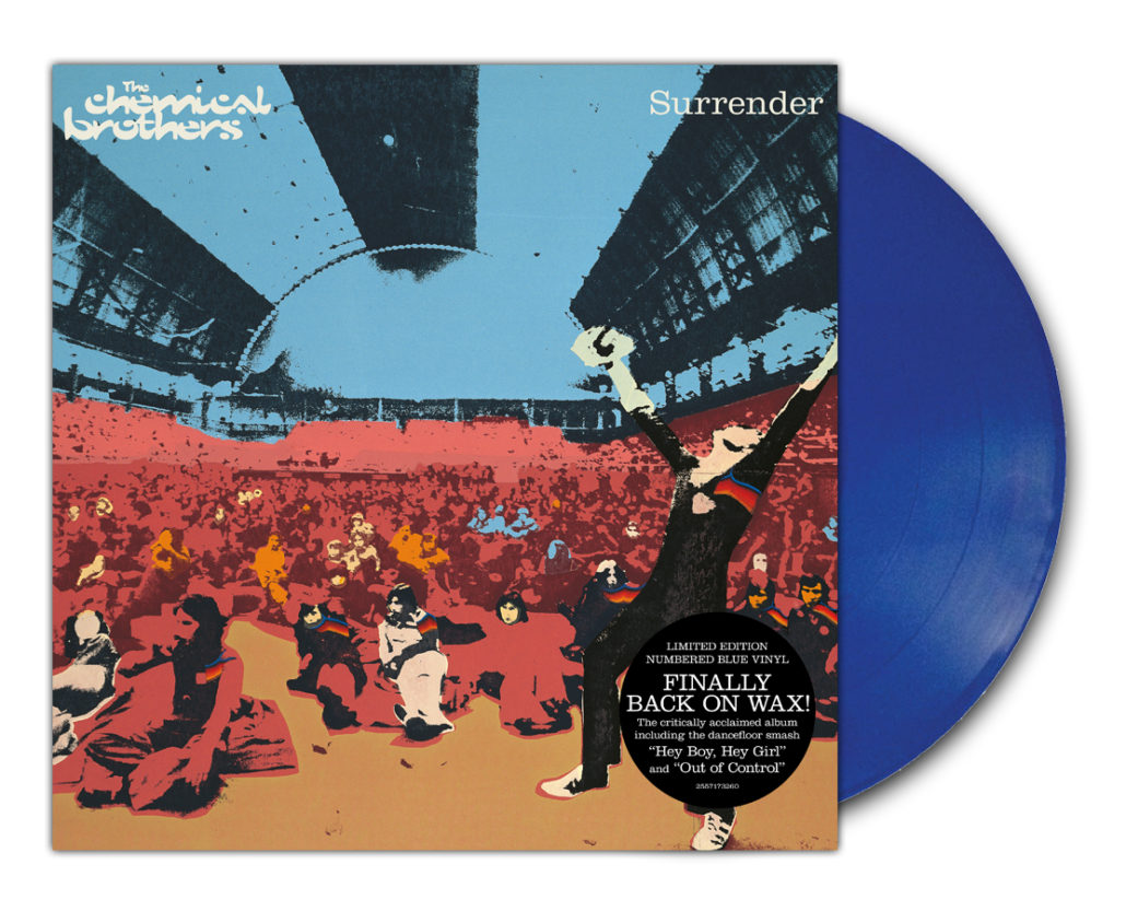 surrender bluevinyl 1030x833 The Chemical Brothers reissuing entire catalog on vinyl