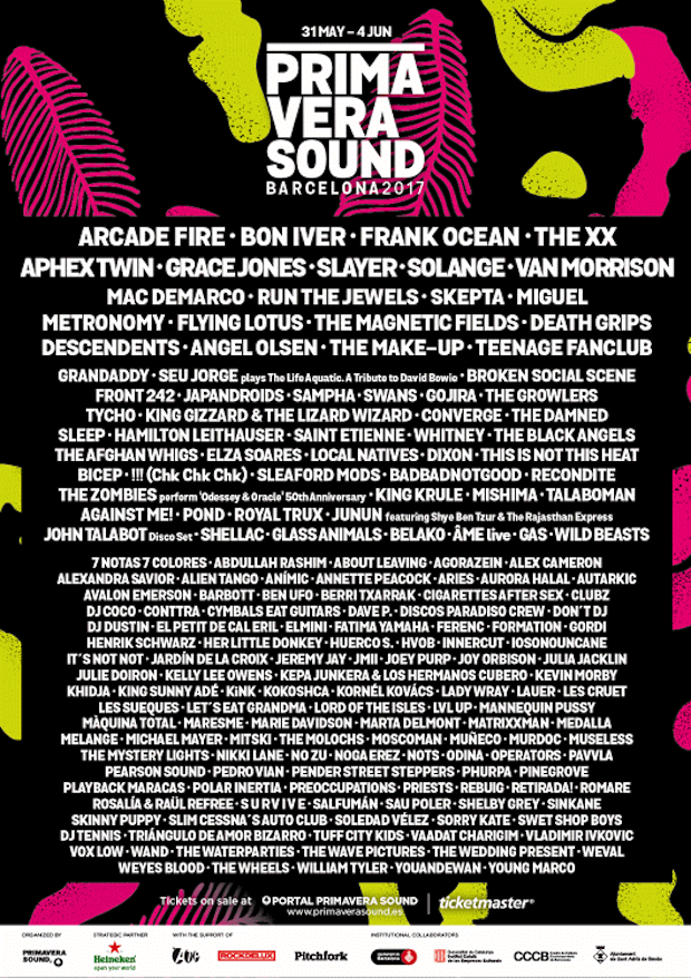 barcelona sound 2017 Primavera Sound reveals 2017 lineup: Arcade Fire, Frank Ocean, Aphex Twin lead the way