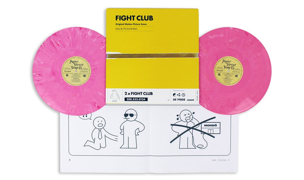 fight club display blog 1024x1024 Destroy something beautiful with Mondos vinyl reissue of the Fight Club soundtrack