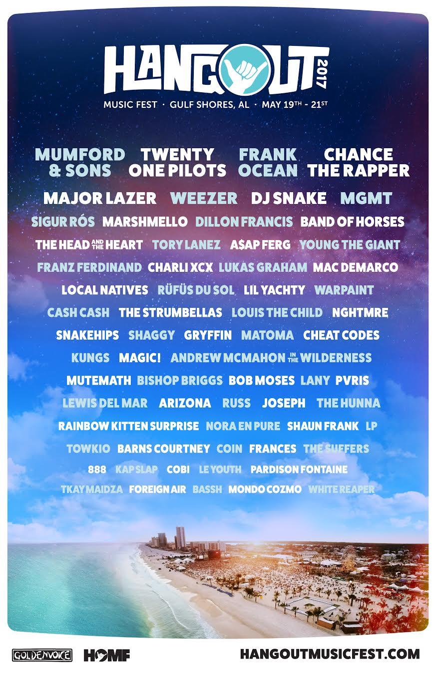 hangout 2017 Hangout Festival reveals 2017 lineup: Frank Ocean, Chance the Rapper to headline