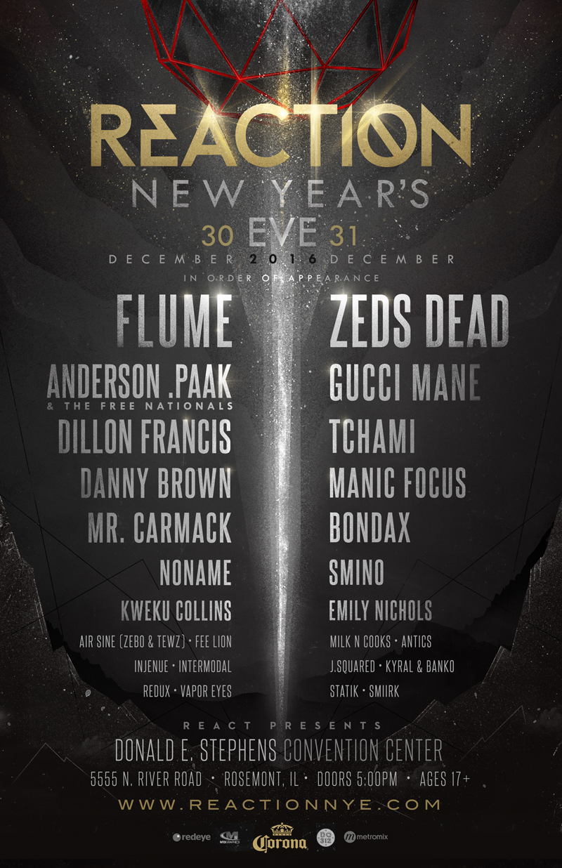 reaction nye Reaction NYE rings in the New Year with Flume, Anderson .Paak, Danny Brown